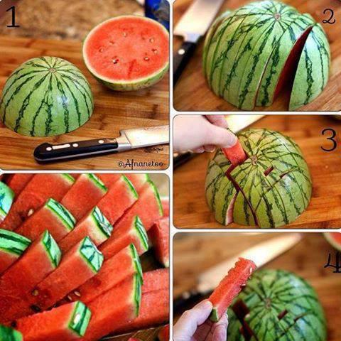 Come tagliare l'anguria per i bambini
