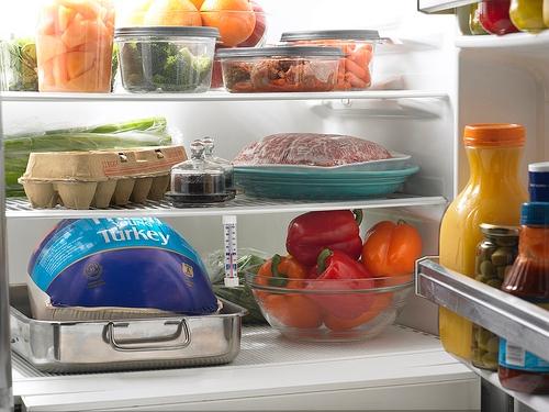 Gli alimenti da conservare parte centrale frigorifero