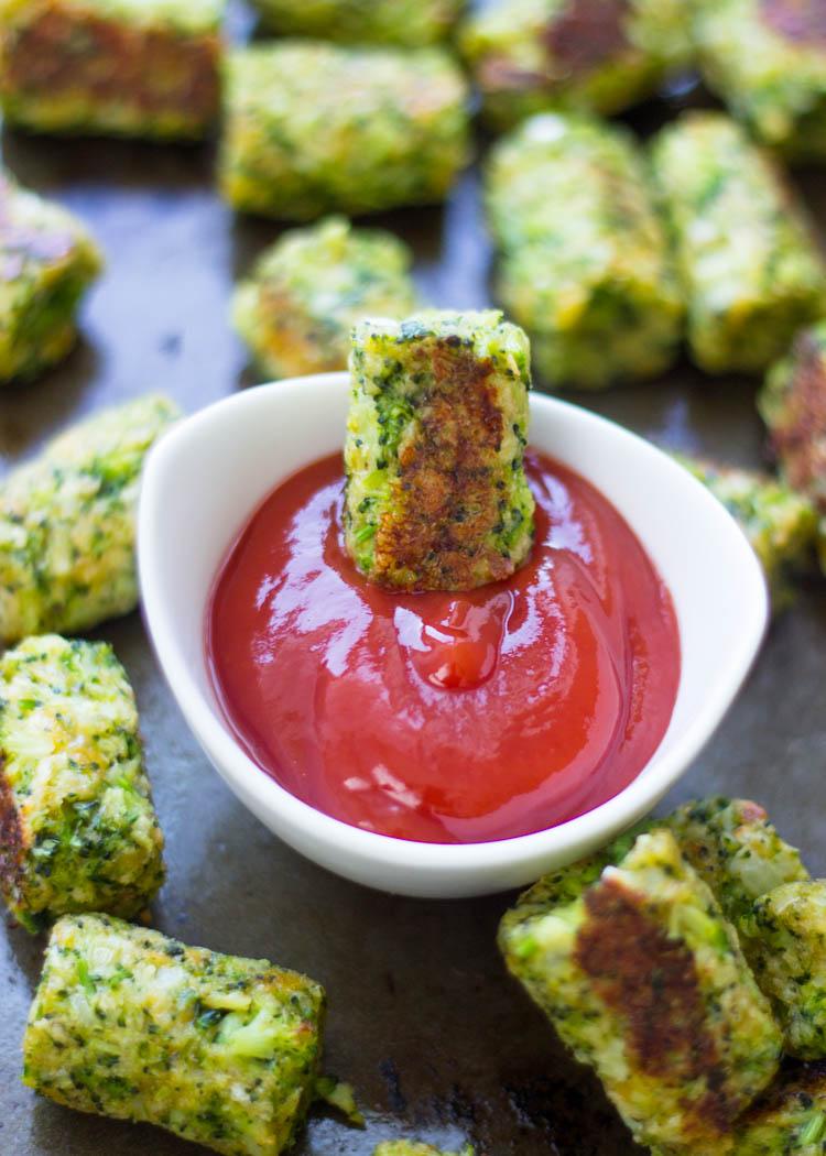 Bastoncini di broccoli al forno