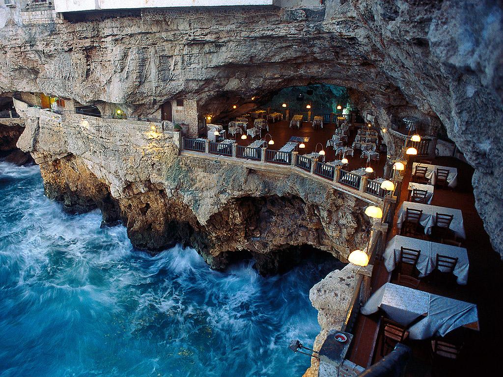 I migliori ristoranti dentro una grotta
