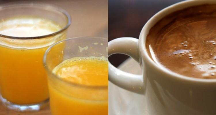 Caffè o succo di frutta: qual è il più salutare?