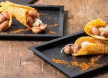 Coni di parmigiano e fagioli