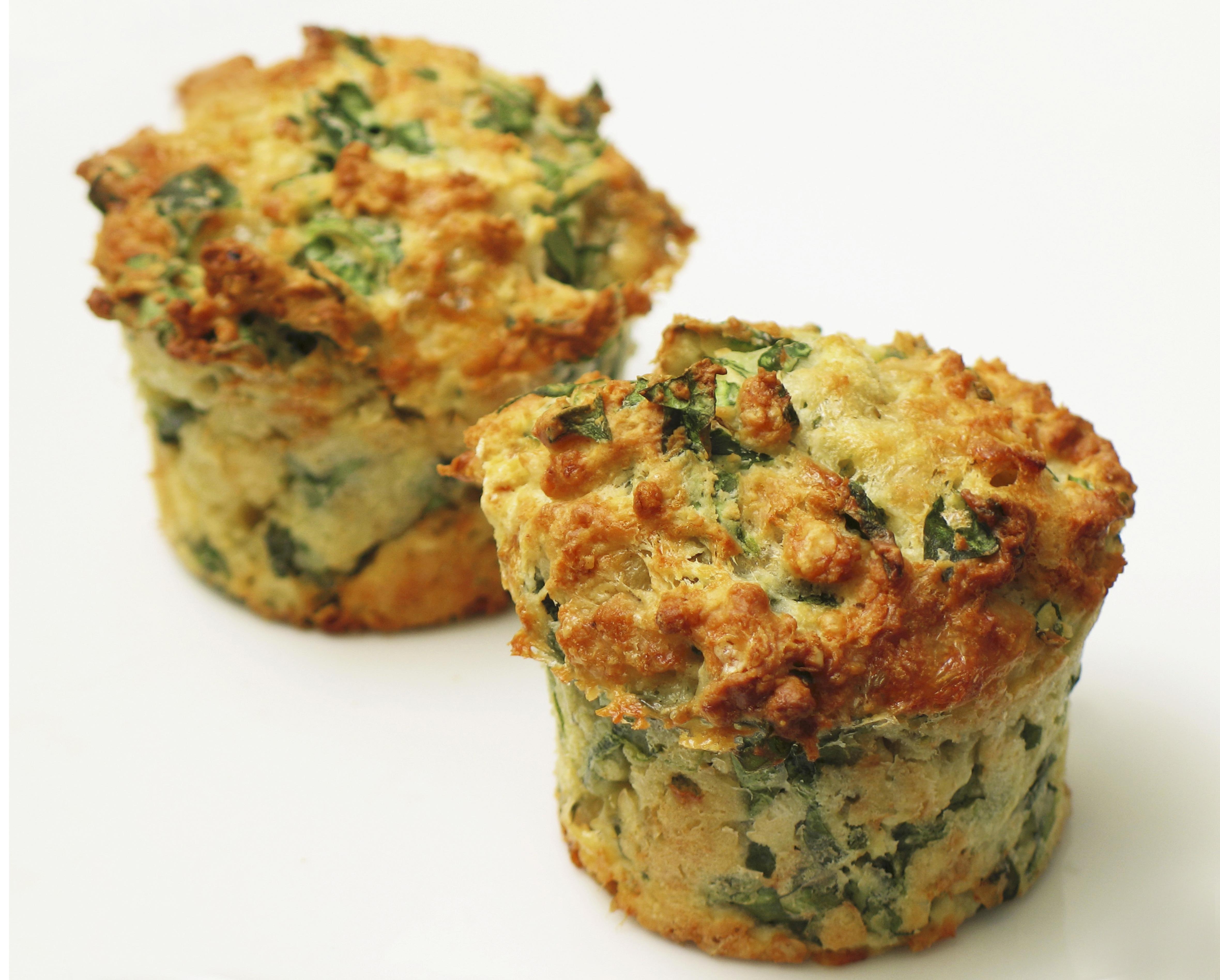 Muffin alla farina di ceci e spinaci