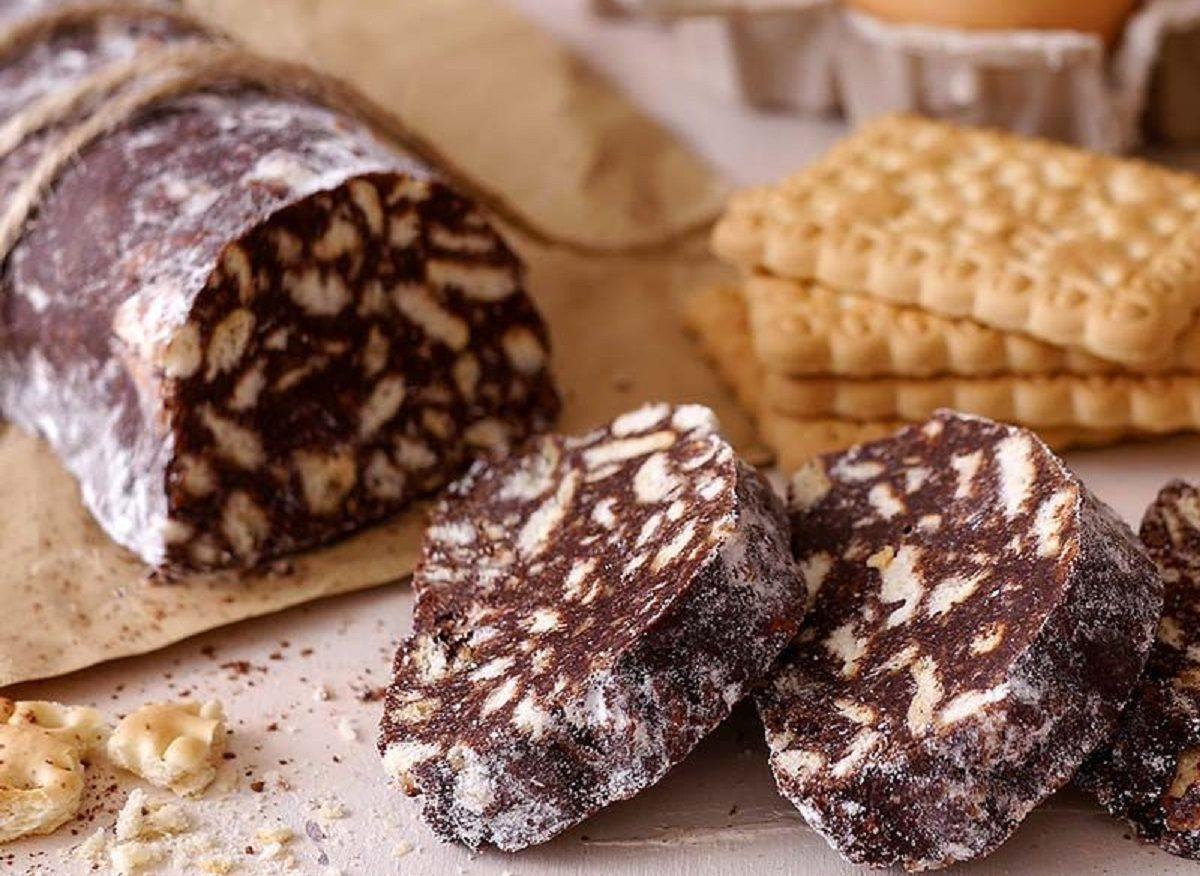 dolci di pasqua senza glutine salame al cioccolato