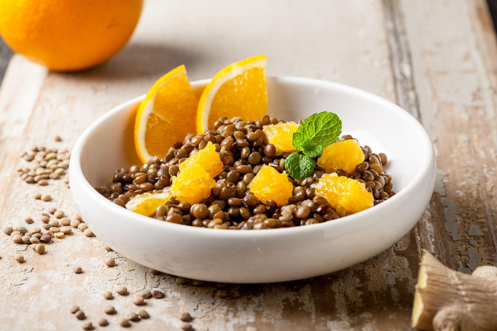 Lenticchie con arance e zenzero