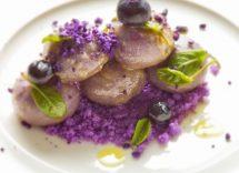 Idee per cena colore viola