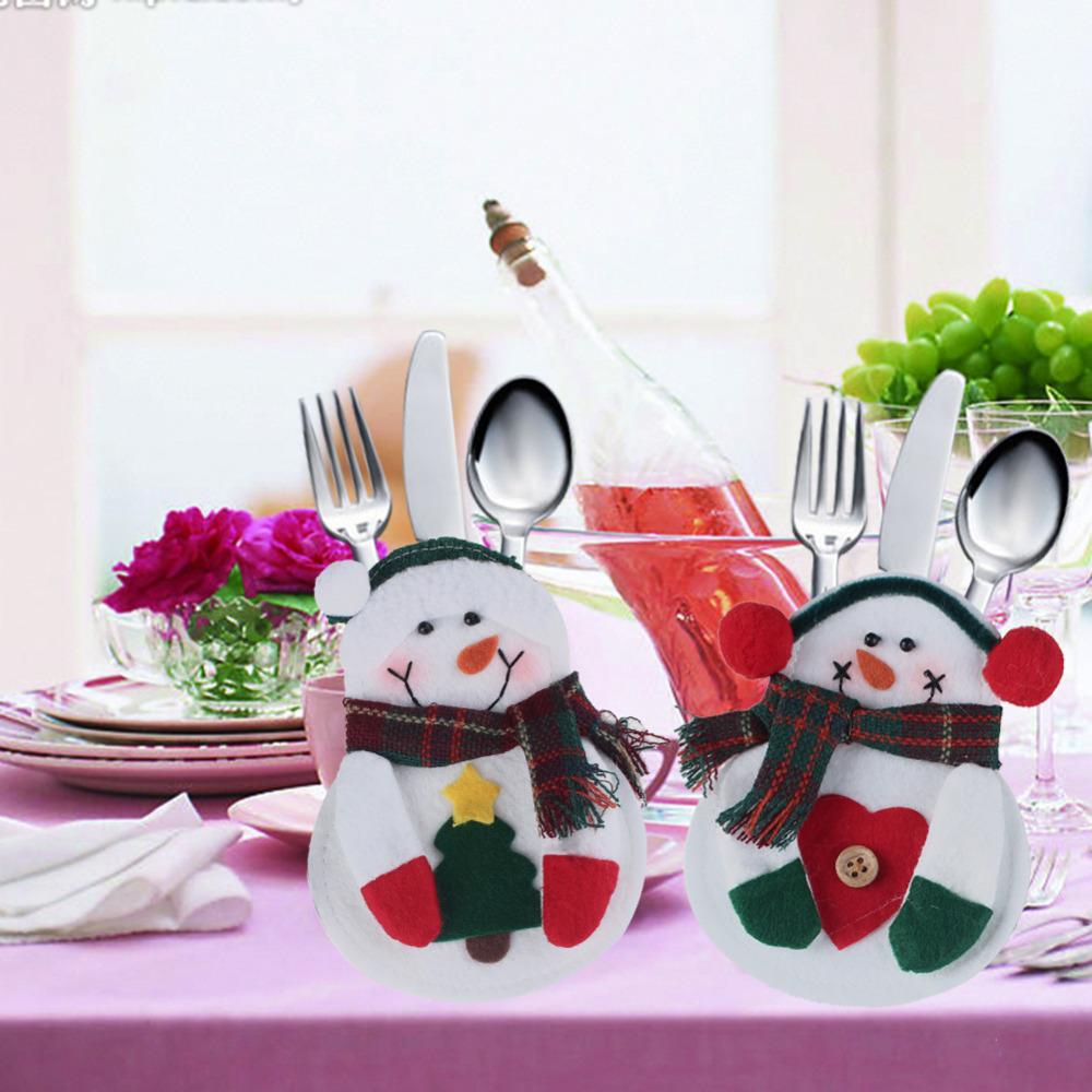 Tavola di Natale con pupazzi di neve   Sapori Nuovi