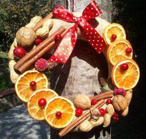 Ghirlanda natalizia con frutta: 5 idee