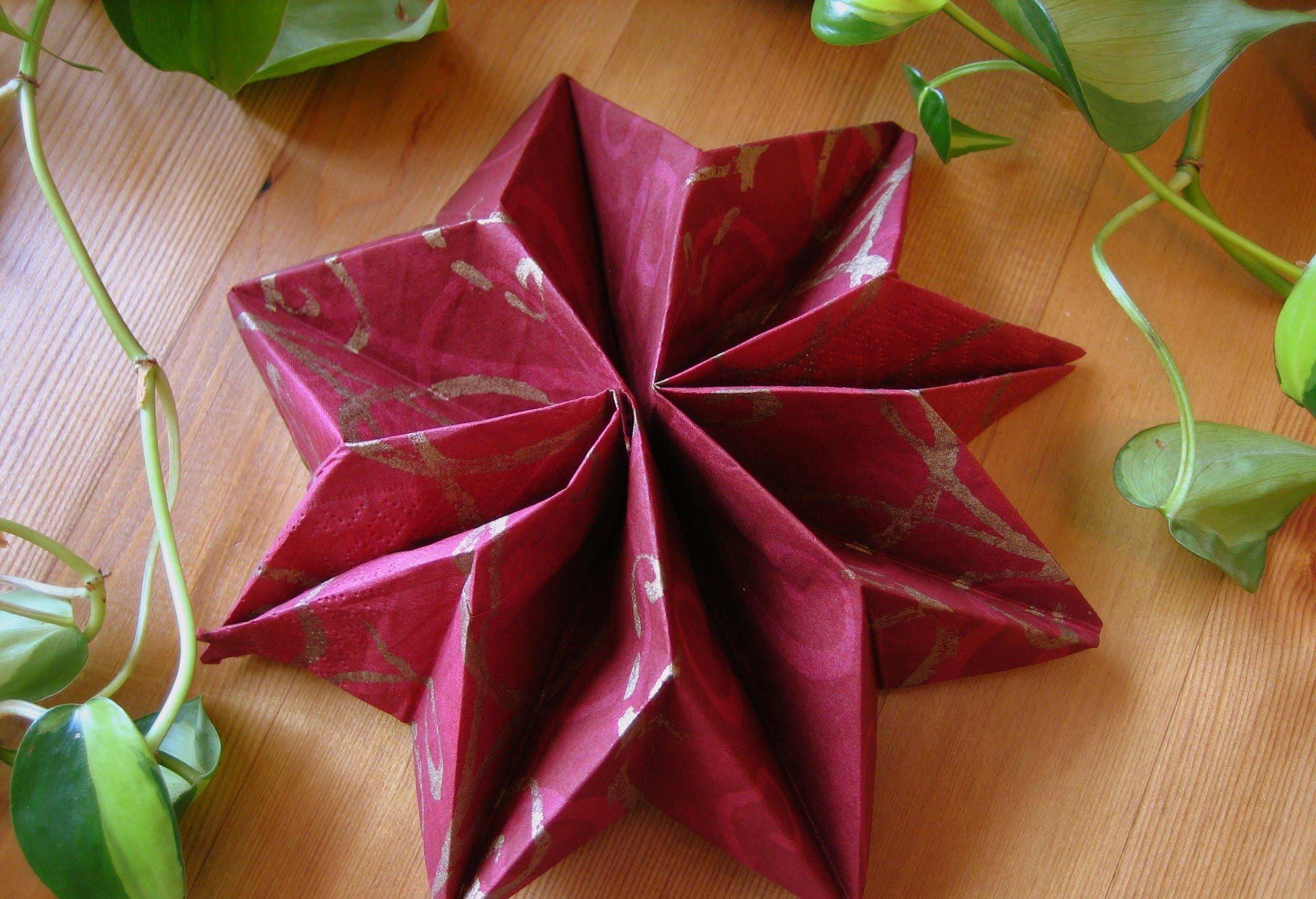 Piegare Tovaglioli Di Carta tovagliolo a forma di stella | food blog