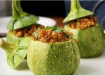 ricette biologiche di cucina vegetariana zucchine ripiene 1