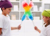 bambini e faccende domestiche