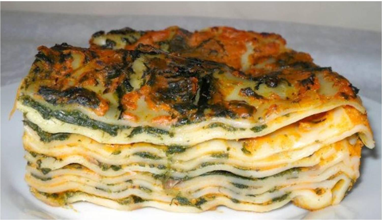 lasagne zucca e spinaci con bimby