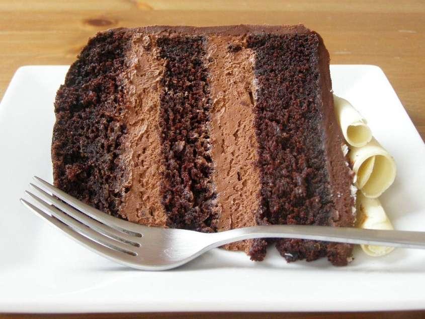 torta al cioccolato con mousse