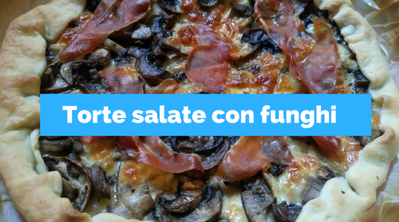 Torta salata con funghi