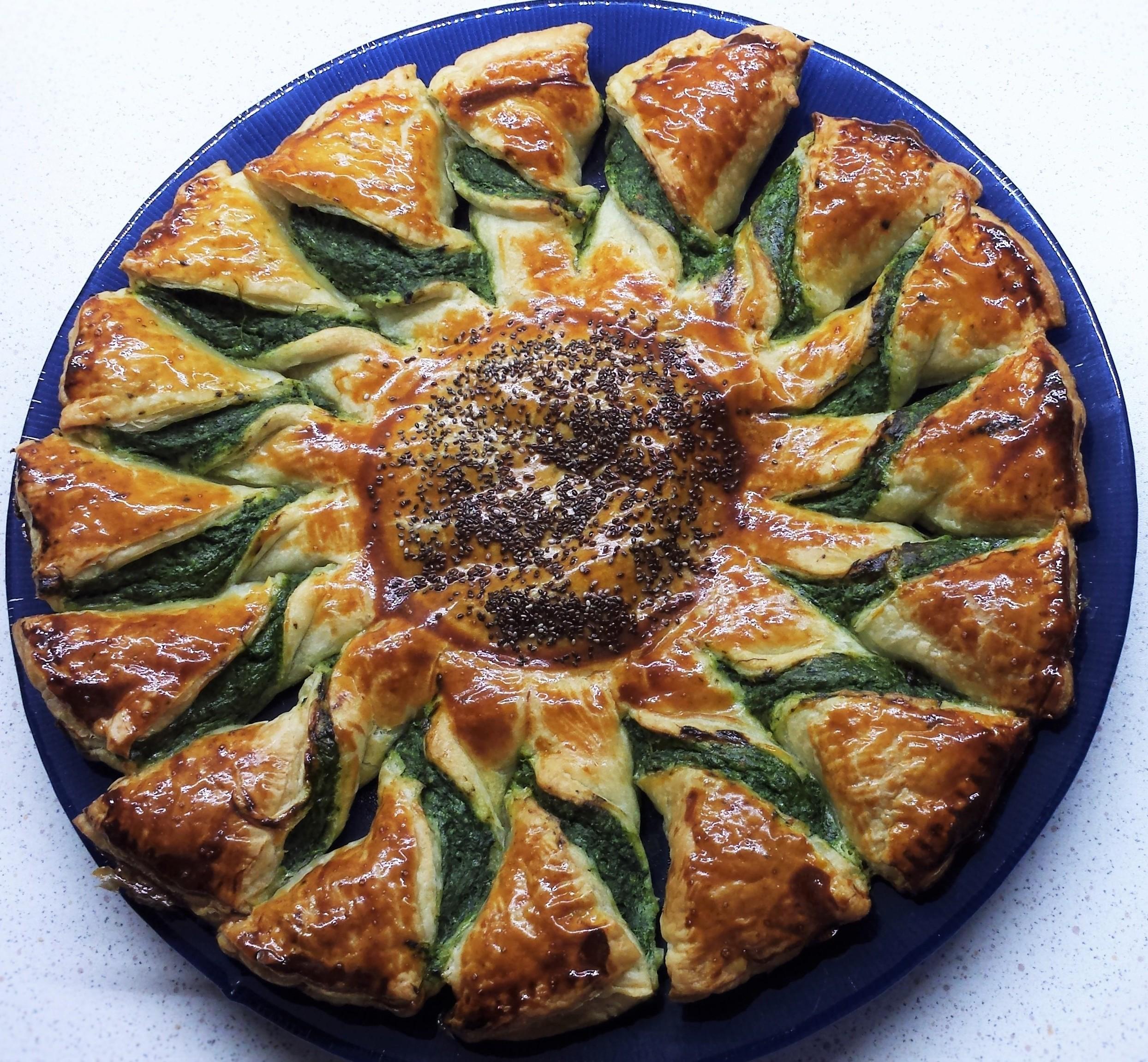 Torta salata a girasole con
