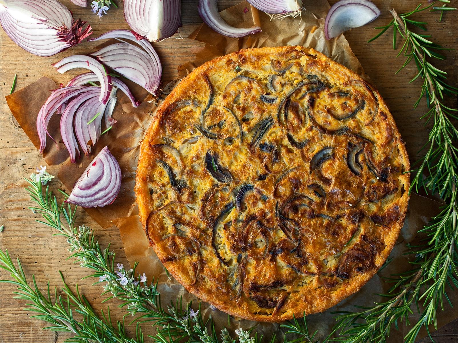 farinata di ceci con verdure