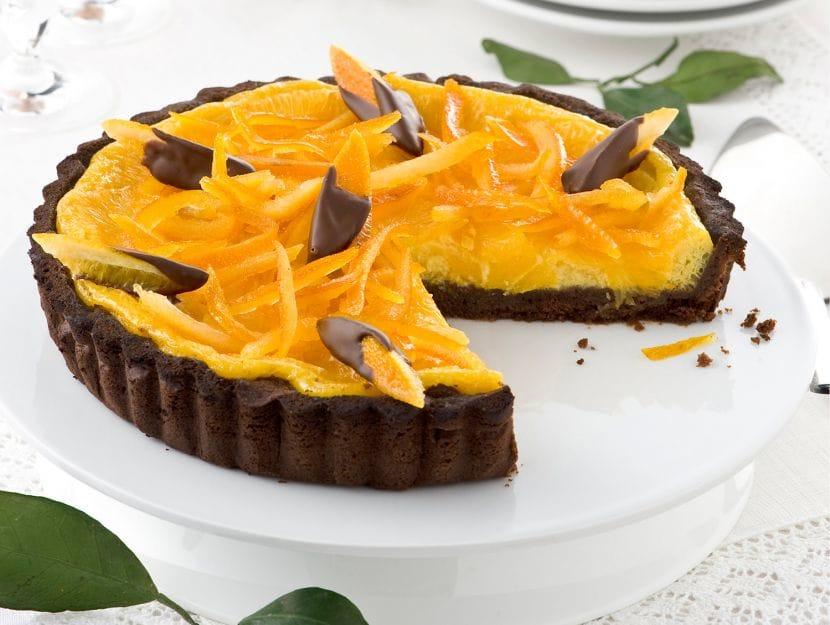 Crostata di cioccolato e arance ricetta base 830x625