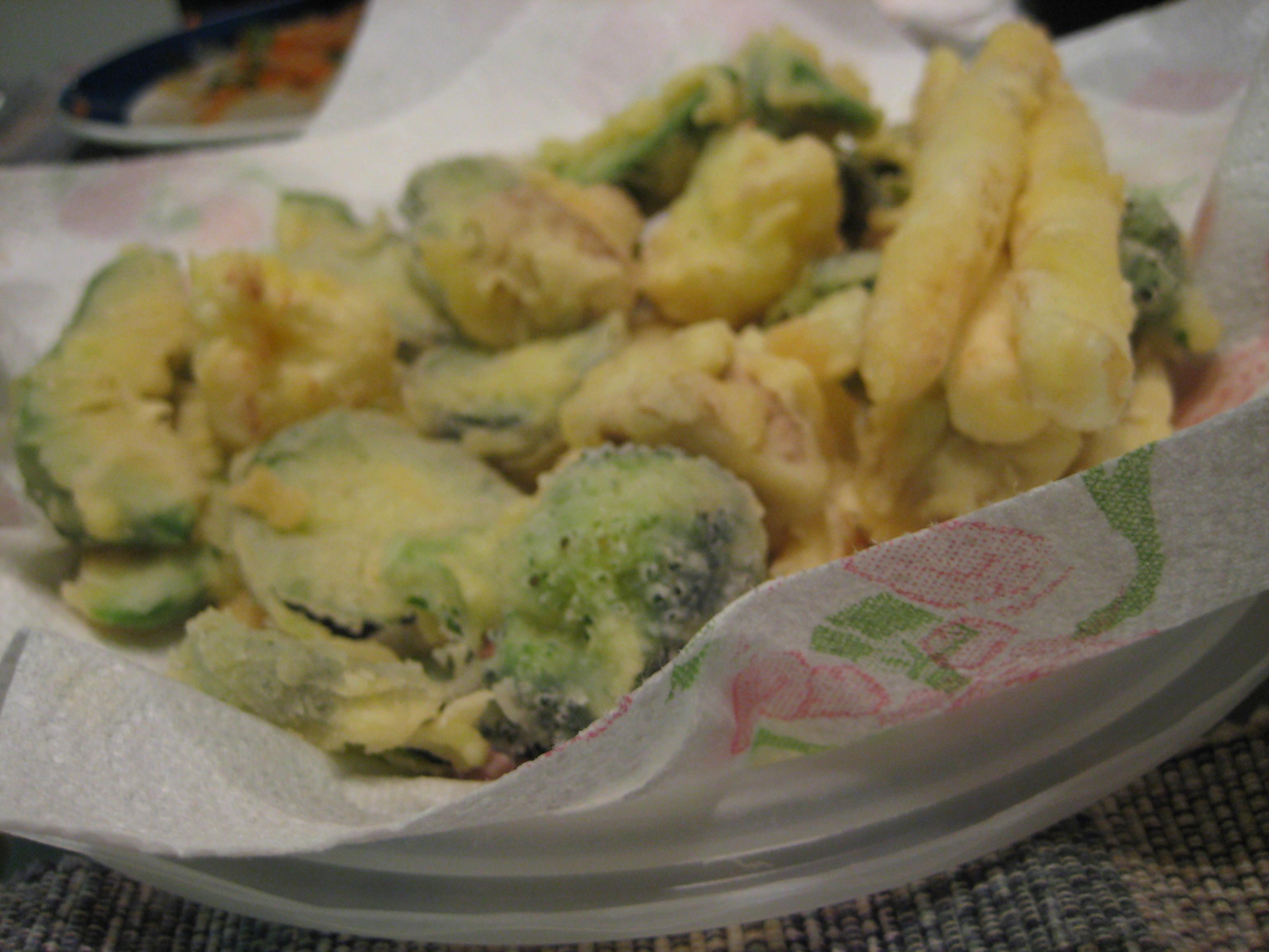 tempura con farina di riso