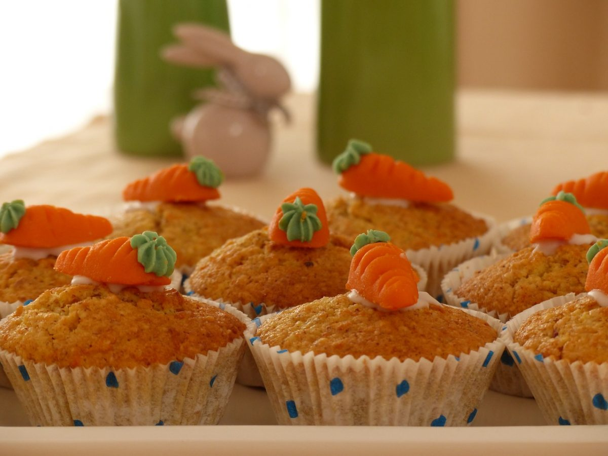 muffin carote e mandorle