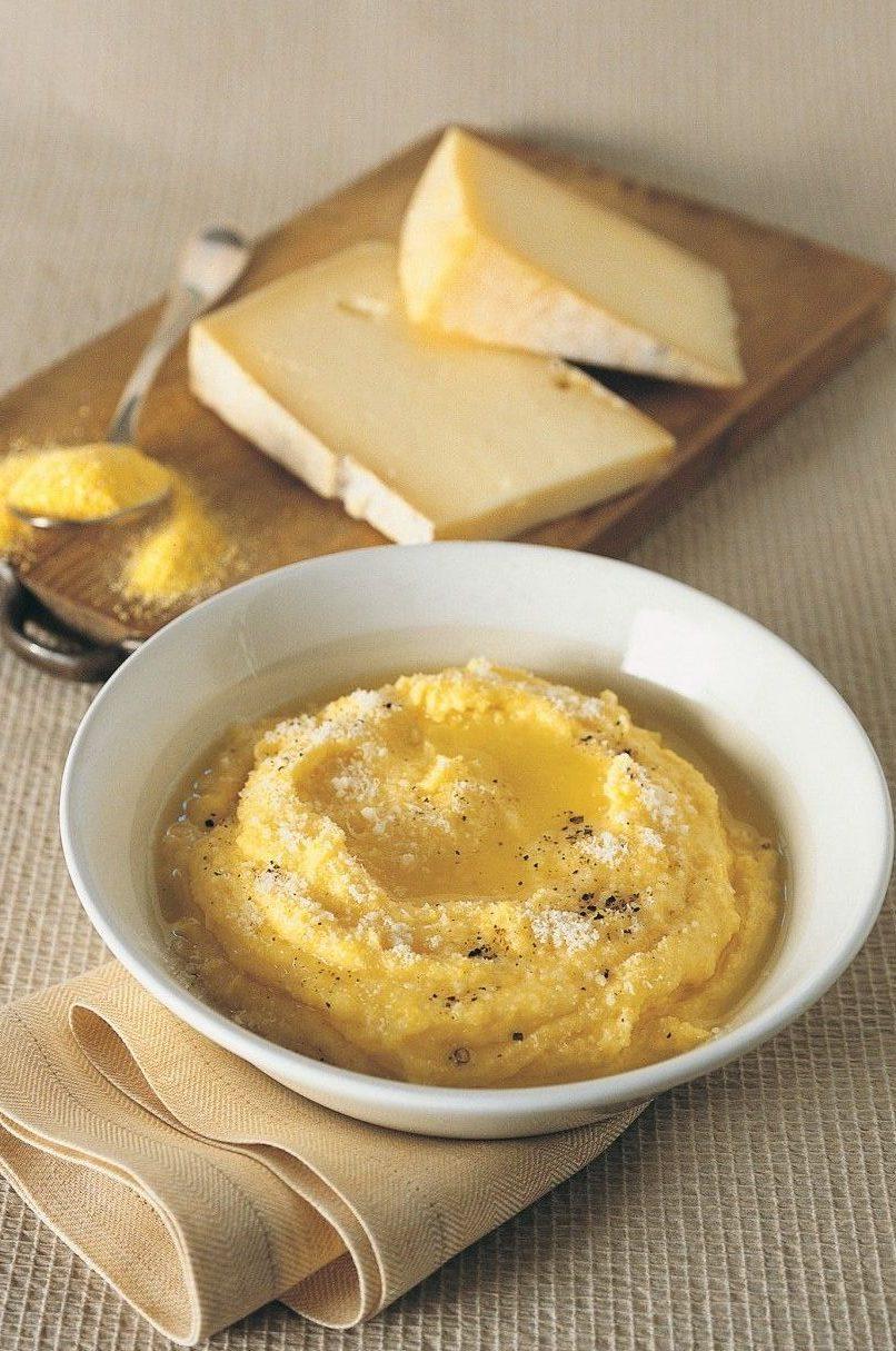 polenta taragna con formaggio fuso