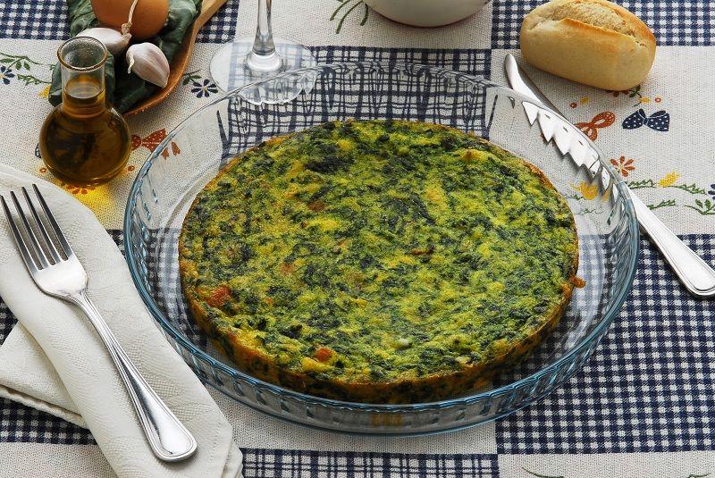 frittata uova e spinaci