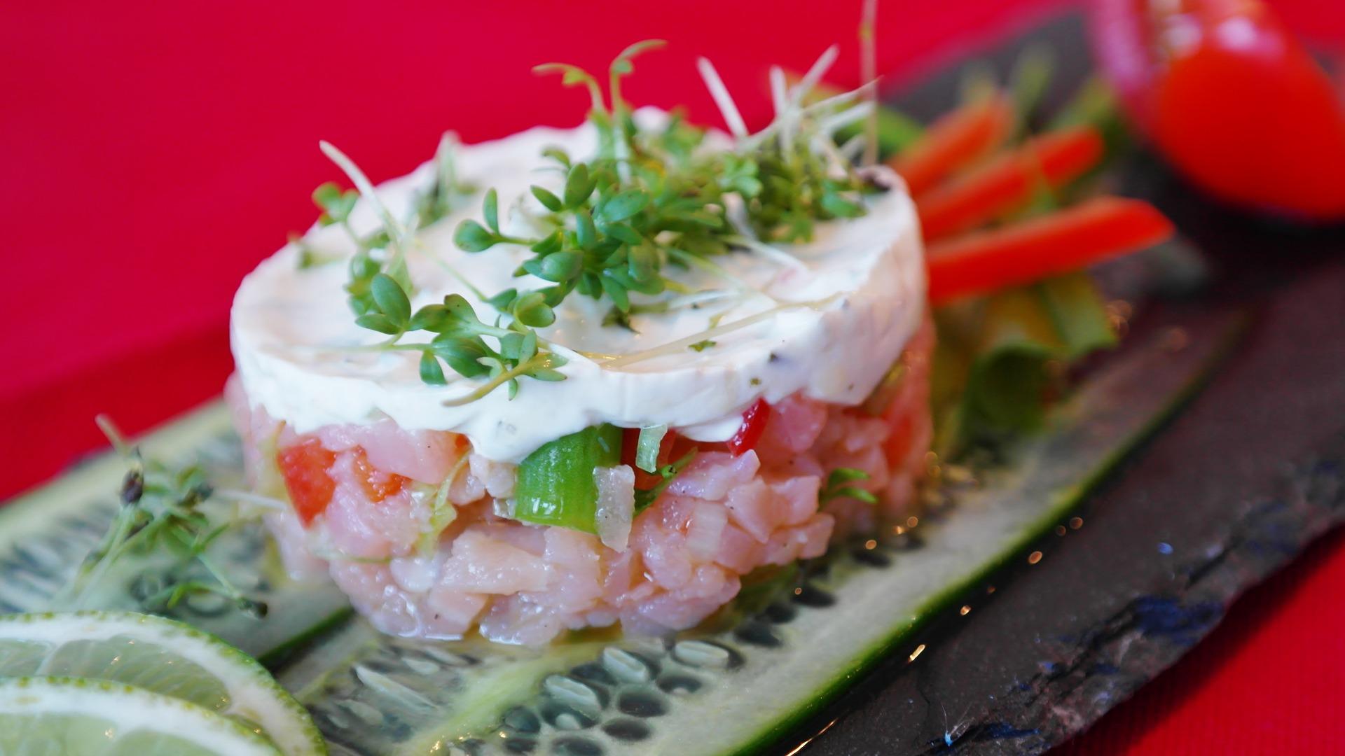 Tartare di tonno crudo calorie
