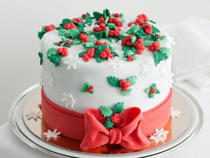 torta di natale pasta di zucchero