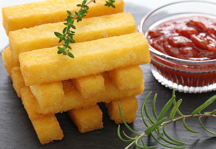 Bastoncini di polenta fritta
