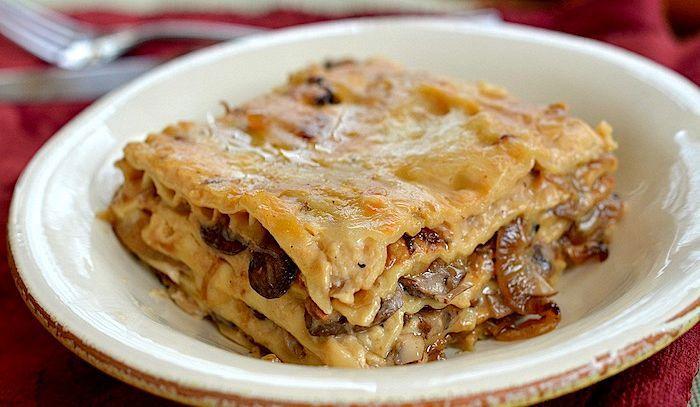 lasagne funghi salsiccia salsiccia