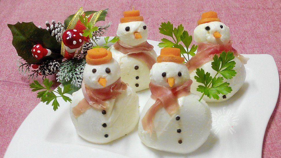 Pupazzi di Neve con la mozzarella