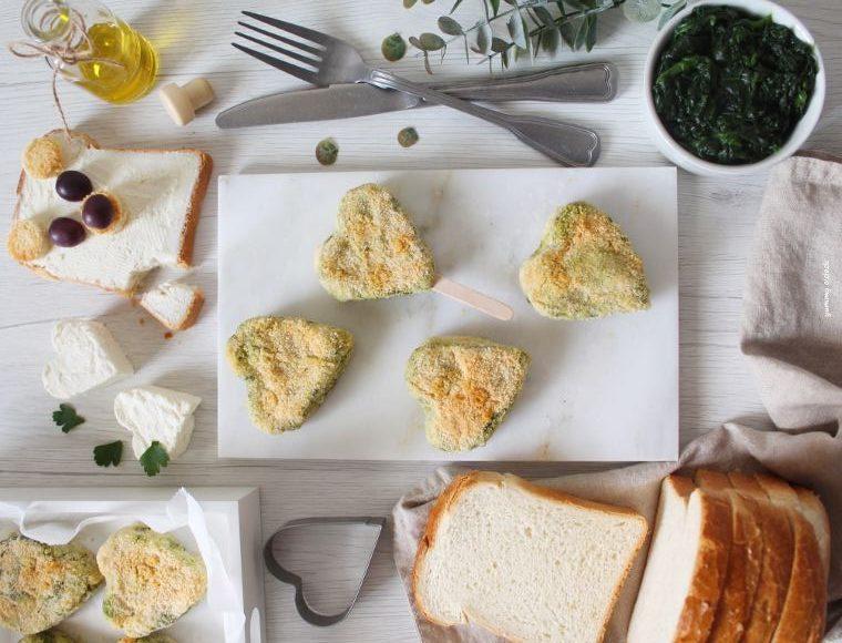 tartine ricotta e spinaci