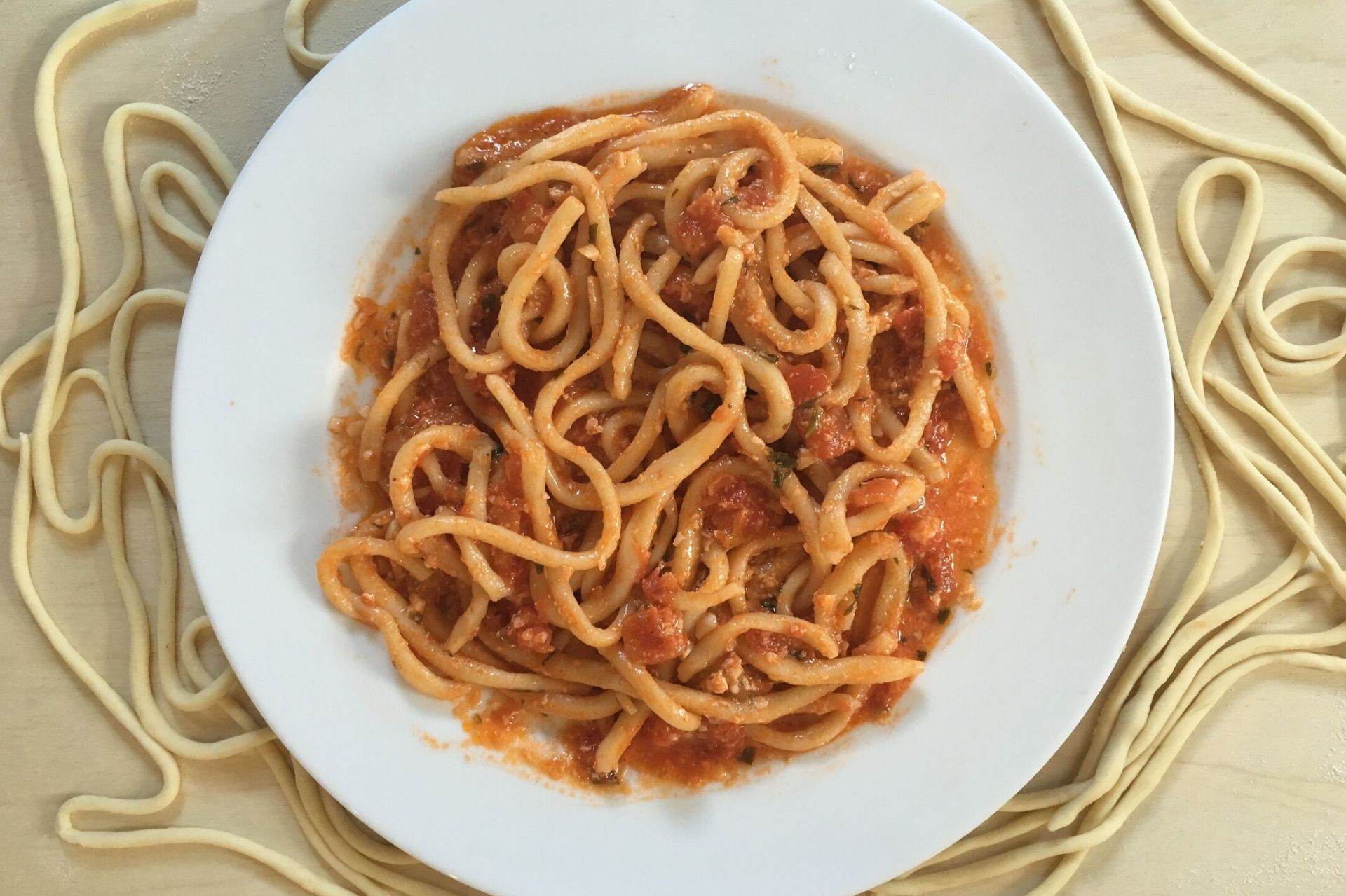Umbricelli alla norcina: la ricetta tipica