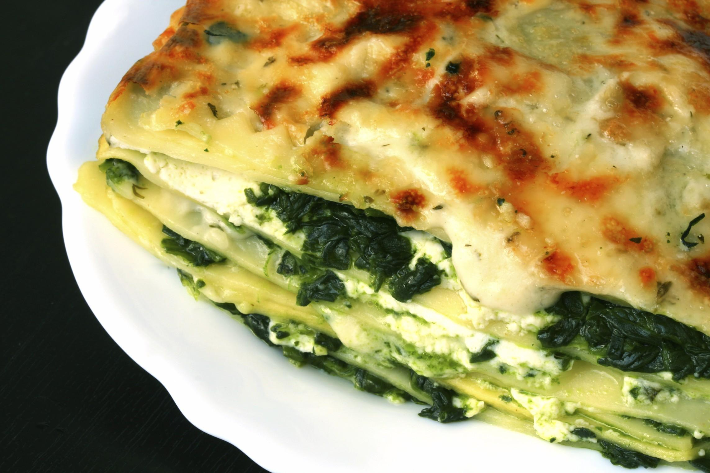 Lasagne light ricotta e spinaci