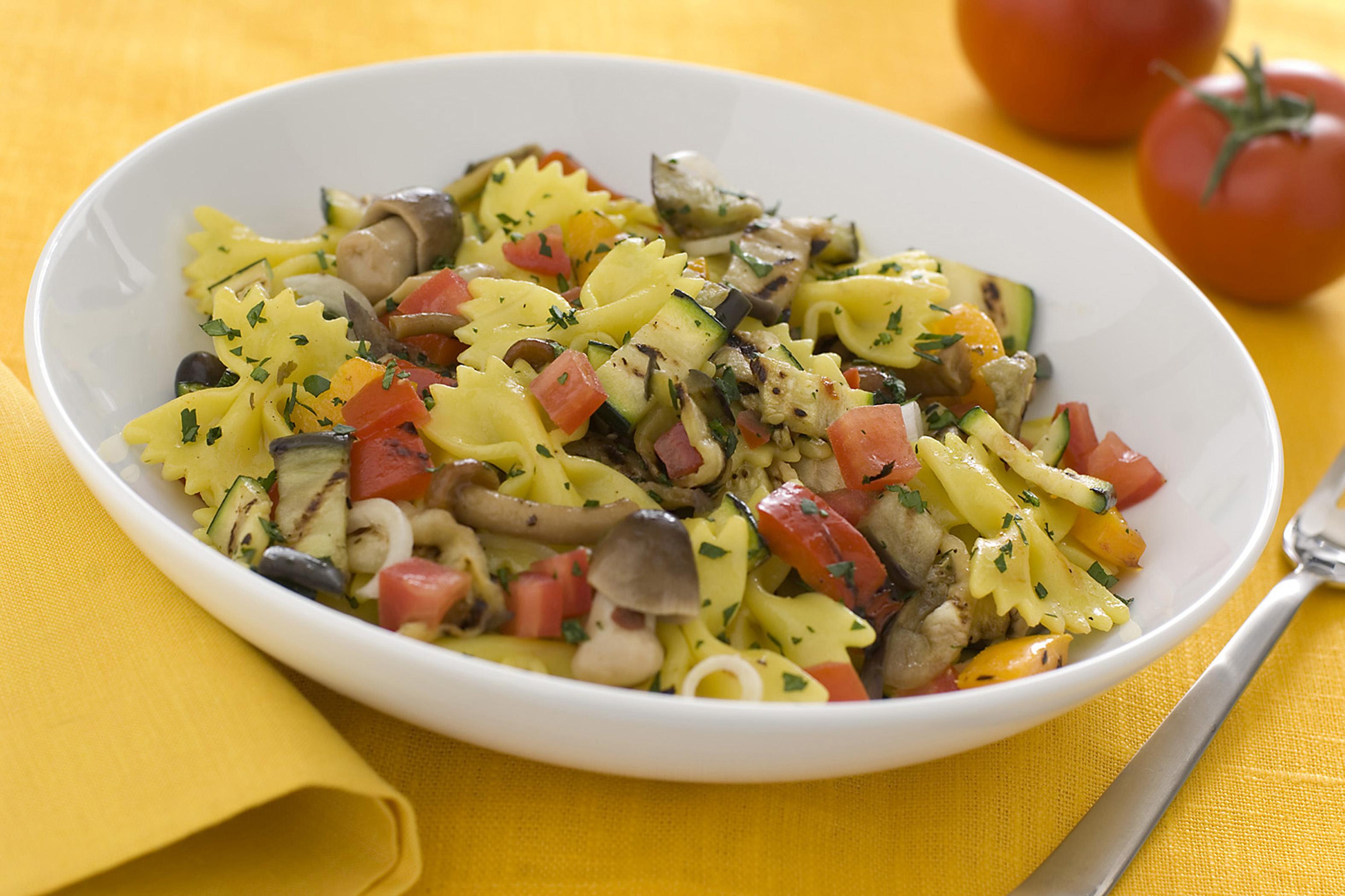 Pasta dietetica con verdure
