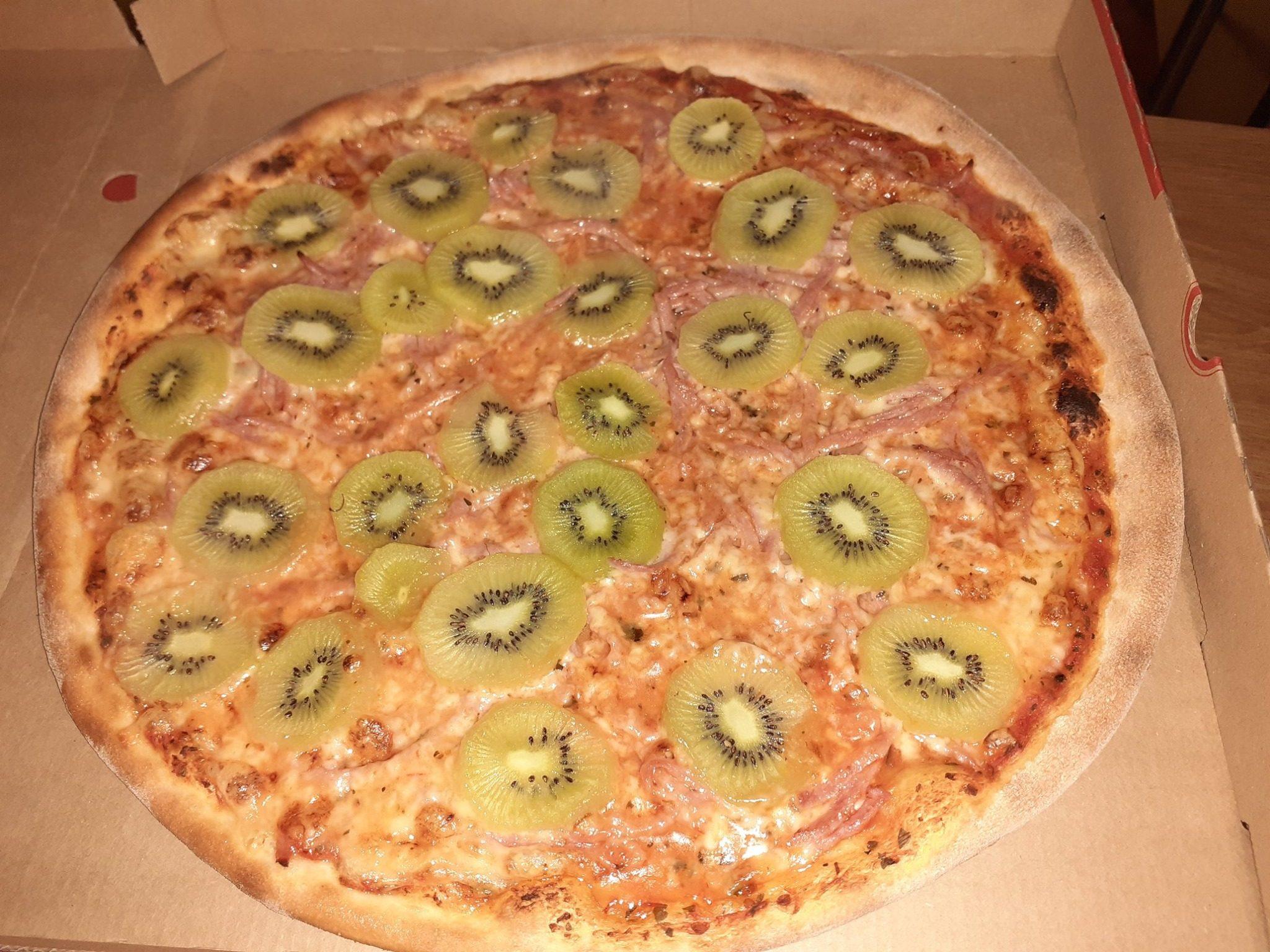 Pizza al kiwi