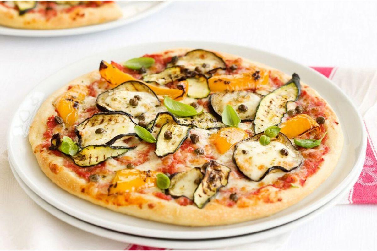 pizza con le verdure grigliate