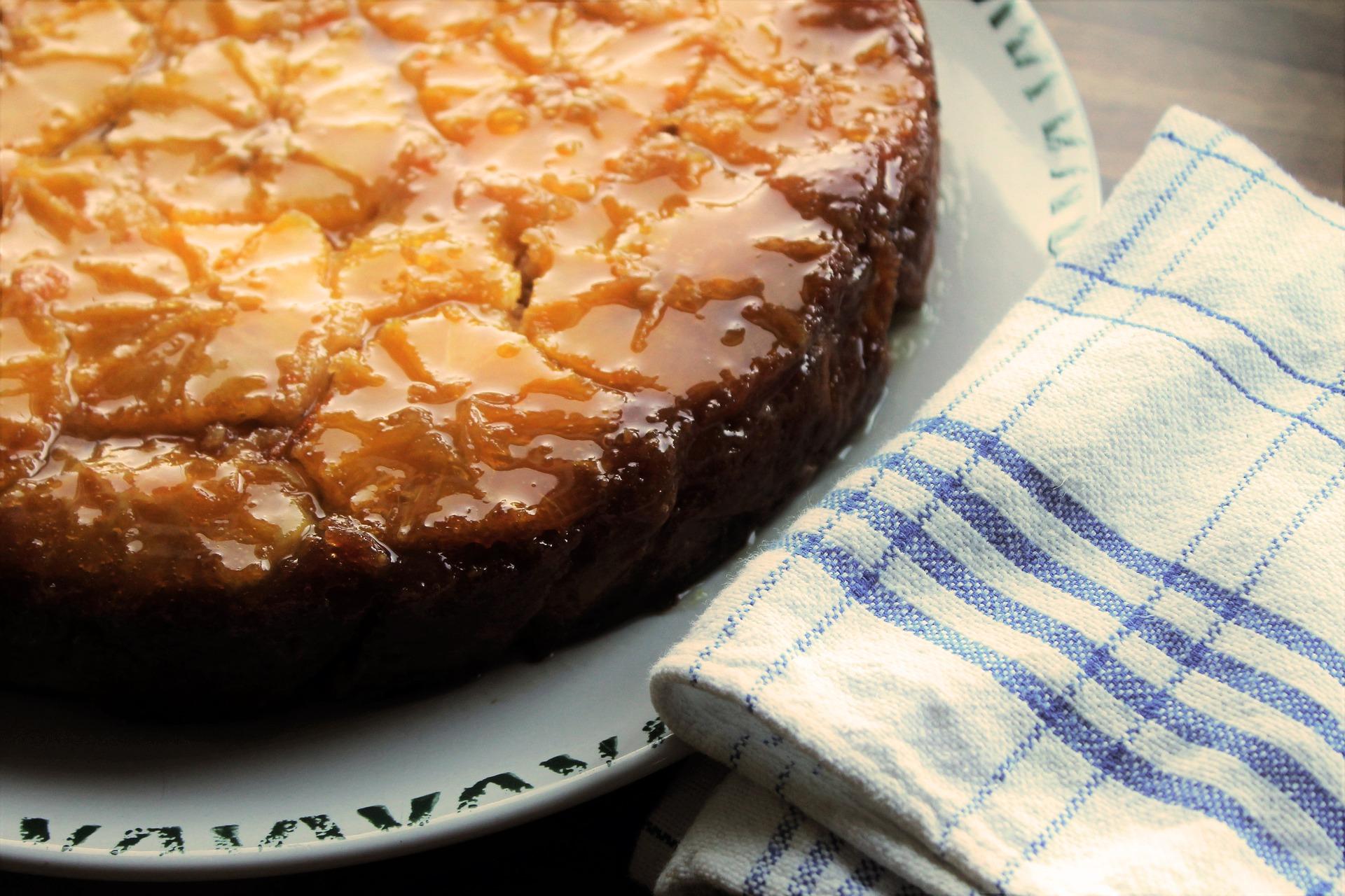 Torta rovesciata all'arancia senza glutine