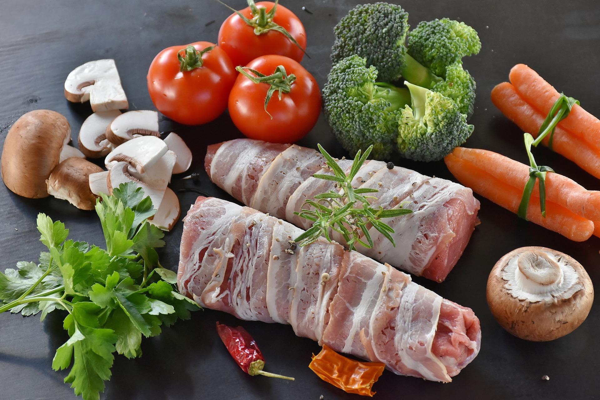 Arista di maiale al forno con pancetta