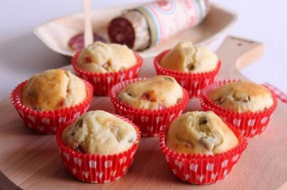 Muffin salati con farina di riso per celiaci