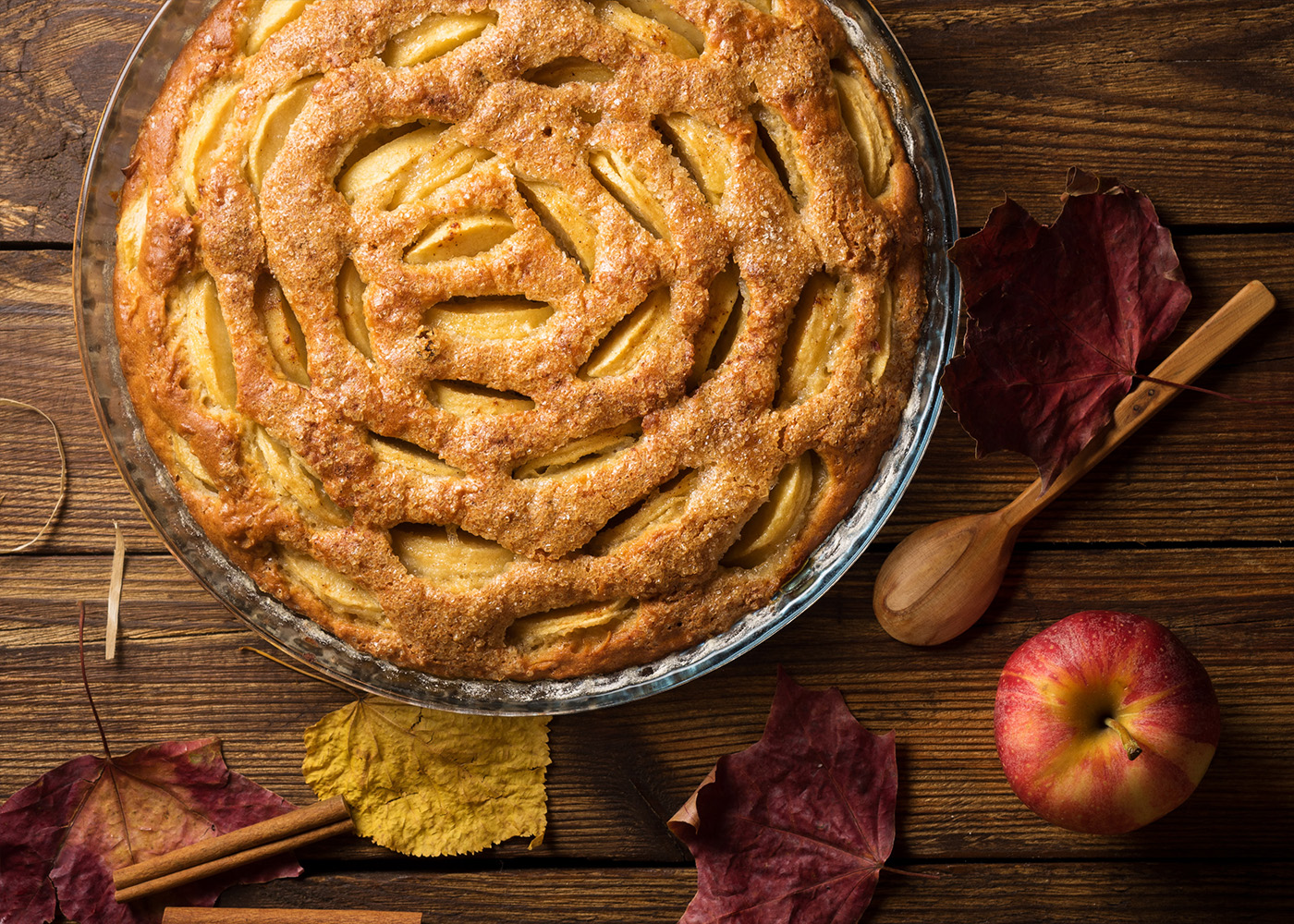 Cheese apple pie