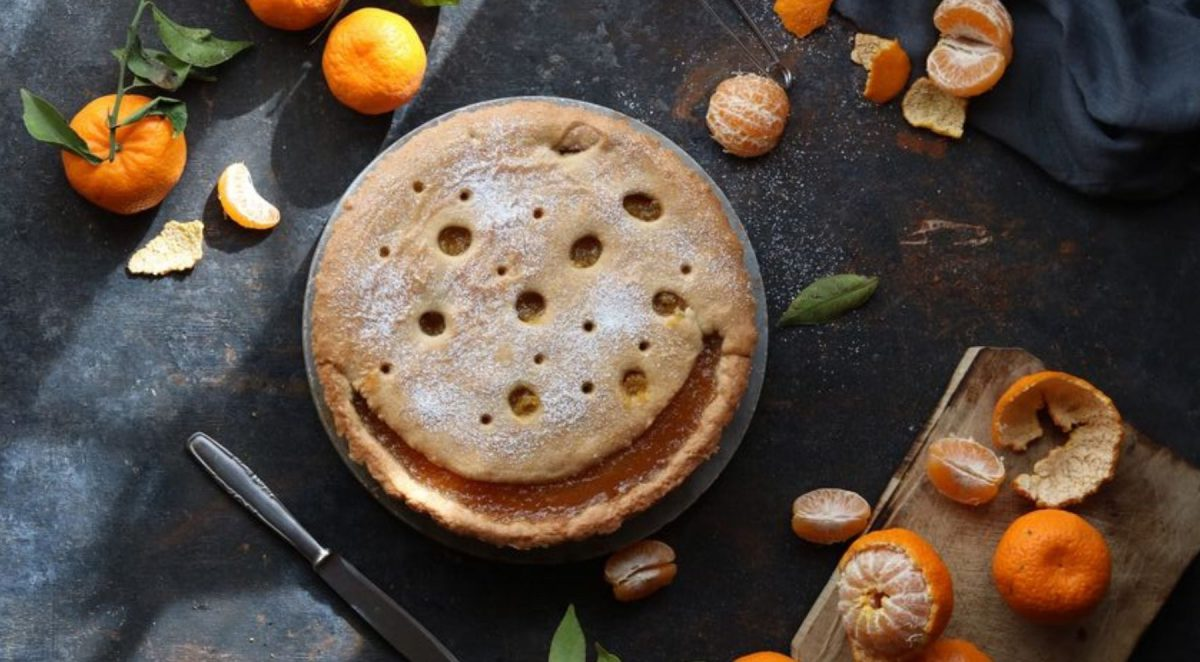 Crostata di mandarini senza crema
