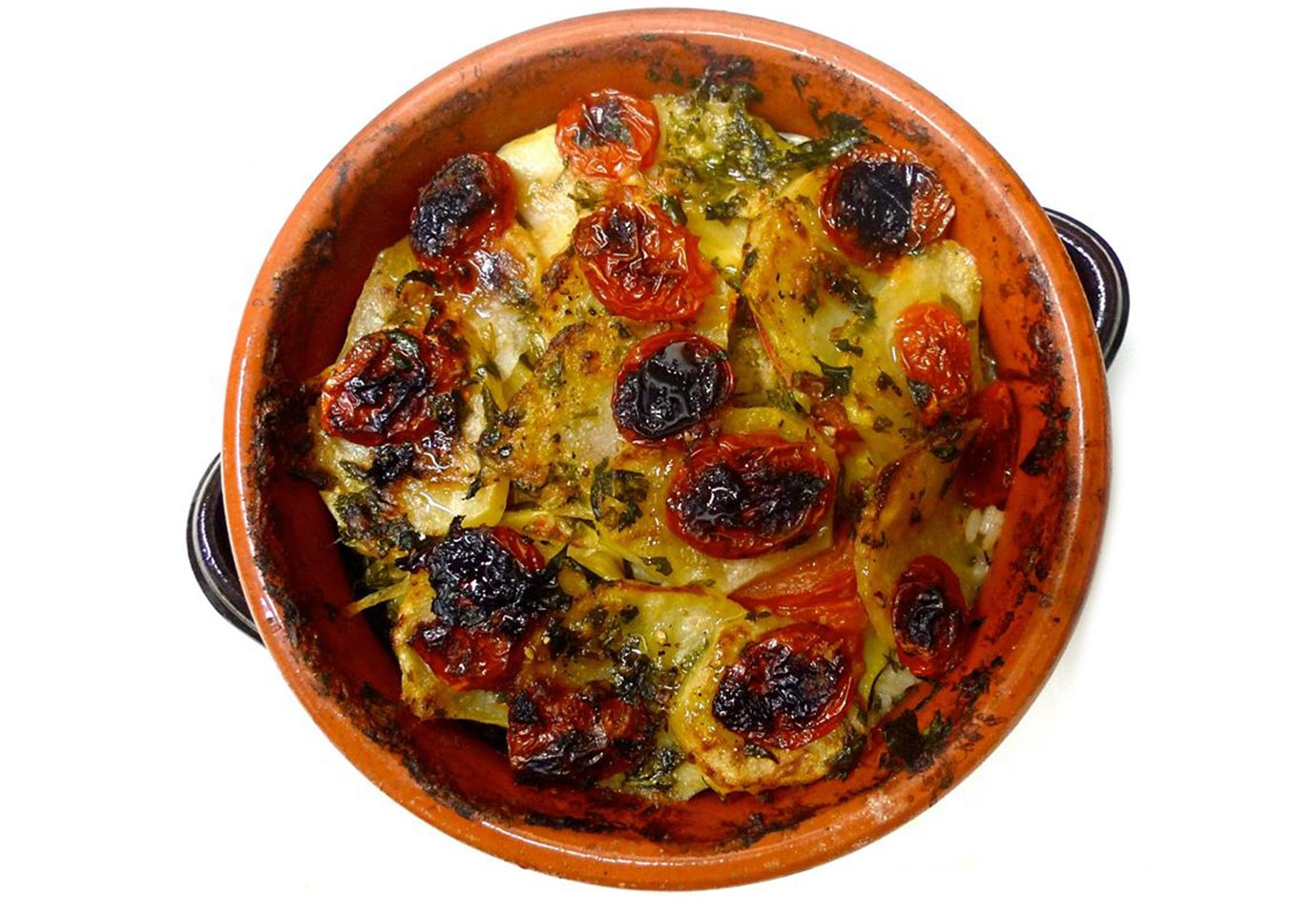 Patate riso e cozze ricetta originale della tiella barese