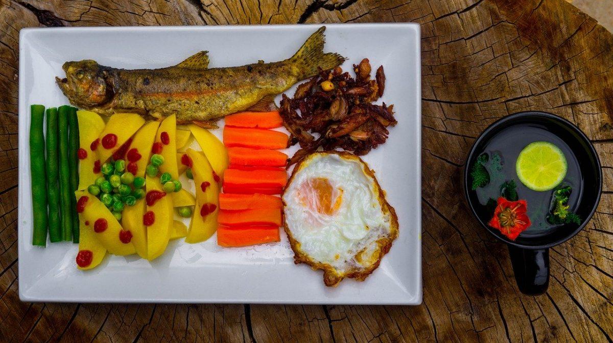 pesce e verdura