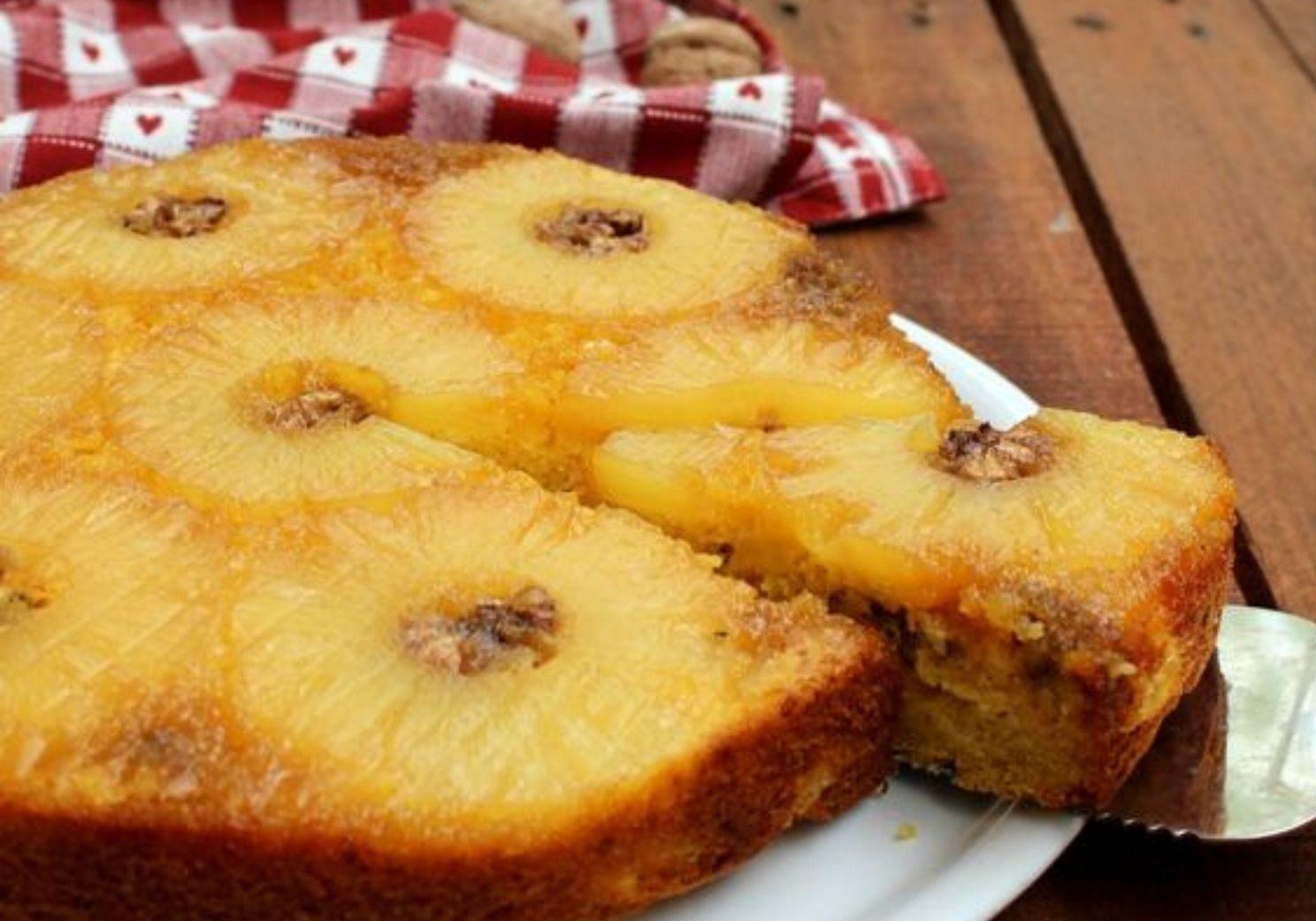 torta ananas e noci facile