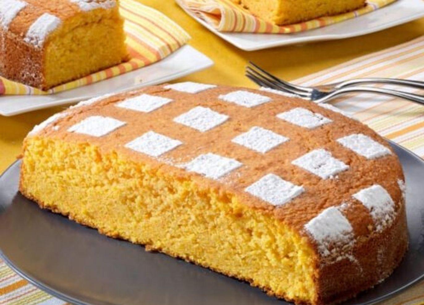 torta con farina di mais senza uova e burro