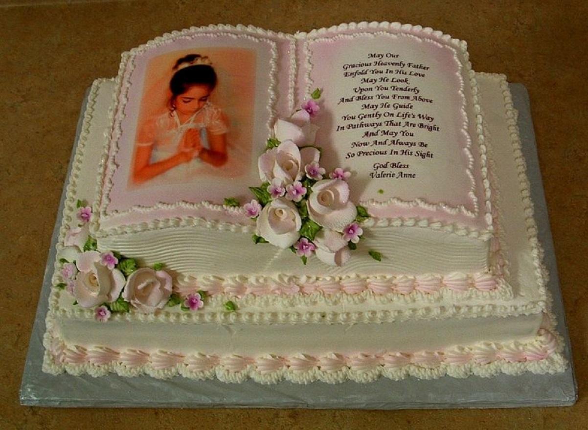 torta per comunione a libro