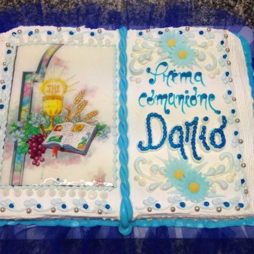 torta per comunione bambino