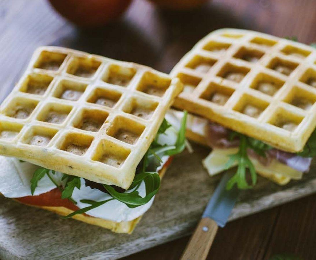 Waffle salati ricetta light