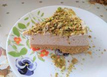 Cheesecake salata mortadella e pistacchi