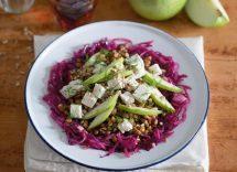 insalata di lenticchie olive mela sedano e carota